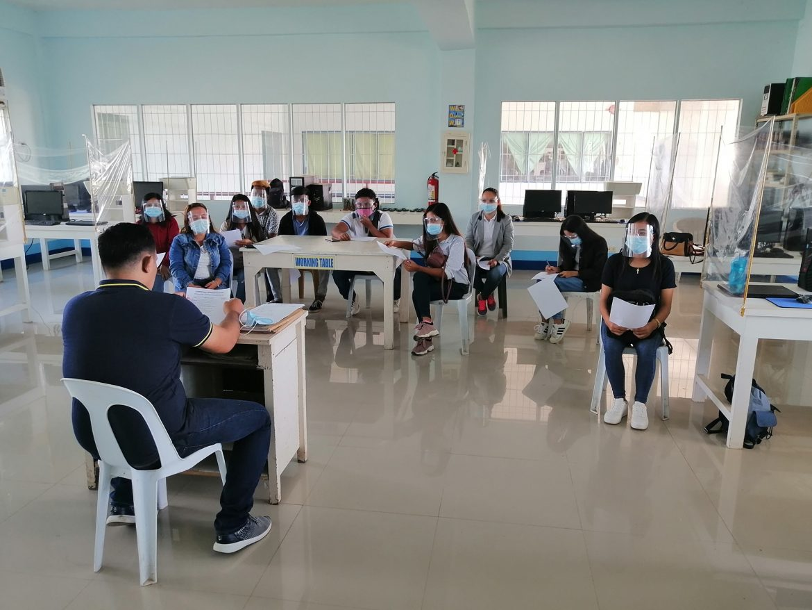 TESDA National Assessment for CSS NC II held November 18, 2020